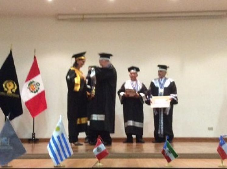MSc. Martha Chaves, investida Doctor Honoris Causa